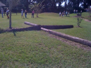Great way to incorporate ground poles