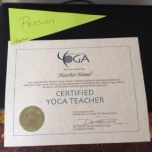 yoga cert